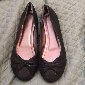 Shoes - Wanted black sparkle flats